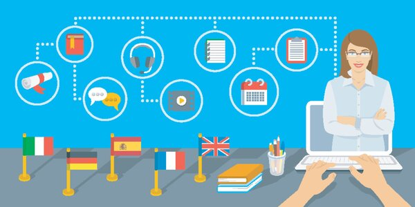 Online kurzy: angličtina, nemčina, španielčina, taliančina alebo francúzština