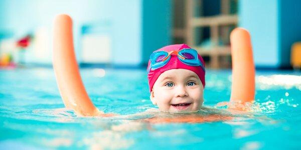 Plavecký kurz pre deti od 4 mesiacov do 4 rokov. 7 lekcií v bazéne Zajka uška