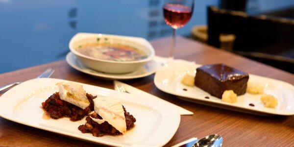 Trojchodové valentínske menu v Chuťovke pre 2 osoby