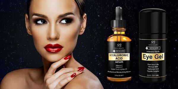 Omladzujúci očný krém alebo sérum z kyseliny hyalurónovej