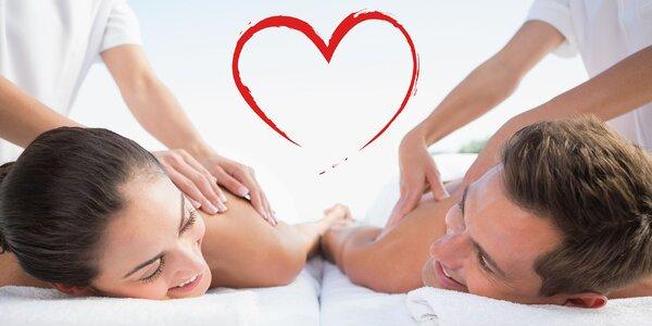 Párové masáže - ideálny darček nielen na Valentína! Na výber 3 druhy!