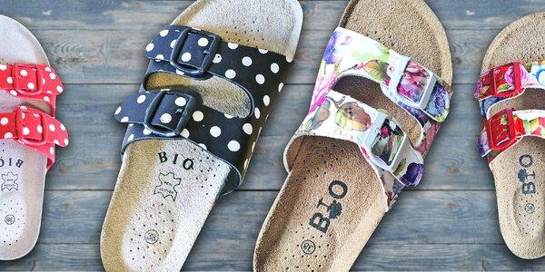 Dámske papuče Samlux s koženou stielkou