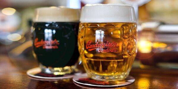 Neobmedzená konzumácia čapovaného Budvaru či dve pivá s panákom