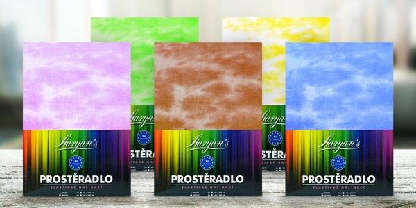 Oblečte posteľ do veselých farieb: batikované plachty zo 100% bavlny