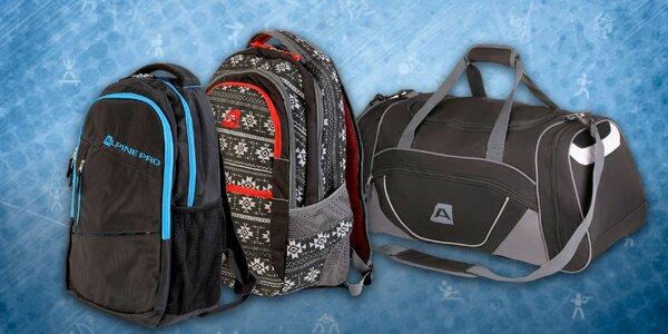 Štýlové dvojkomorové batohy Alpine Pro alebo športová taška