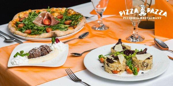 Talianske valentínske 3-chodové menu a víno pre 2 osoby. Možnosť aj…