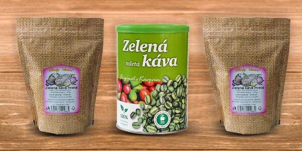 Zelená mletá alebo zrnková káva 230 alebo 300 gramová