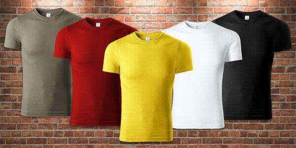 Ľahké unisex tričká zo 100 % bavlny