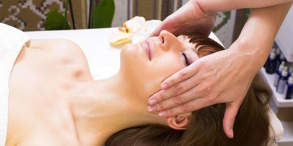 Ošetrenie pleti s masážou tváre, dekoltu a rúk