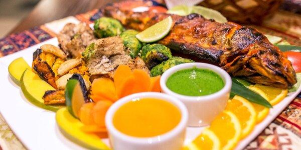 Veľký tanier pre milovníkov rýb a Indie
