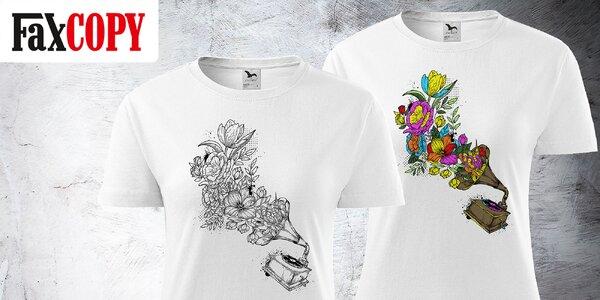 Pánske, dámske či detské tričko s omaľovánkou