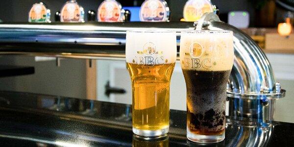 Dve veľké pivá z Belského pivovaru BBC