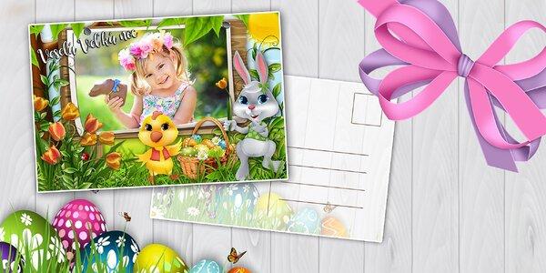 Veľkonočné pohľadnice s vlastnou fotkou