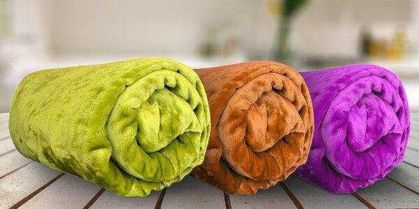 Farebné deky z mikroflanelu