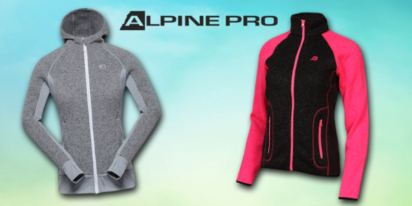 Dámske svetre Alpine Pro so zapínaním na zips