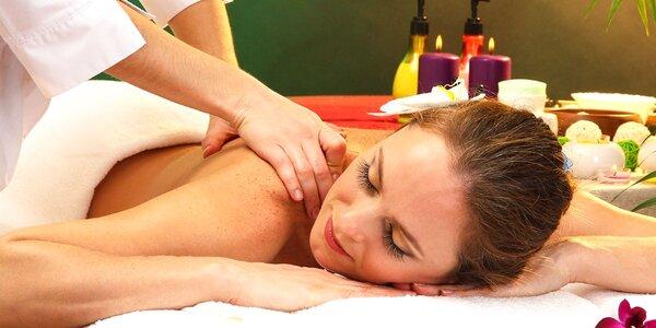 Relaxačná masáž chrbta i manuálna lymfodrenáž