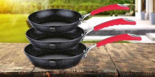 Set troch prémiových panvíc s povrchom Stone Touch®
