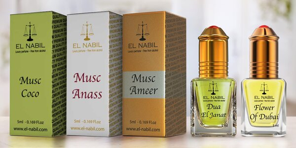 Orientálne arabské parfumy El Nabil z Dubaja