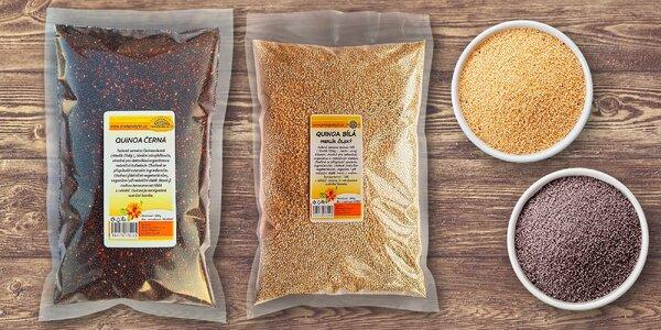 Zoznámte sa s matkou zŕn: quinoa čierna (500 g) alebo quinoa biela (1000 g)