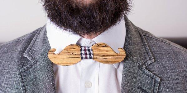 Štýlové drevené motýliky pre každého džentlmena