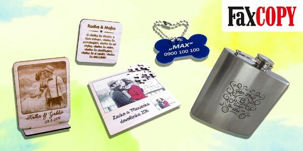 Originálne gravírované darčeky