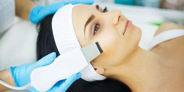 Hĺbkové čistenie pleti alebo ošetrenie s masážou