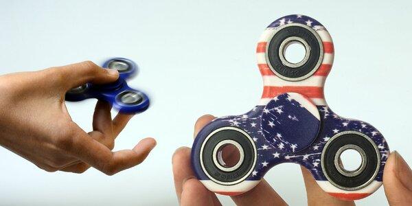 Fidget Spinner s americkou vlajkou a inými vzormi