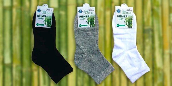Kvalitné pánske bambusové ponožky - klasické aj členkové