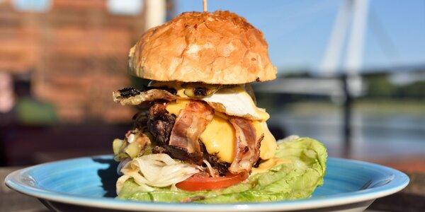Hovädzí burger s domácou majonézou + nápoj