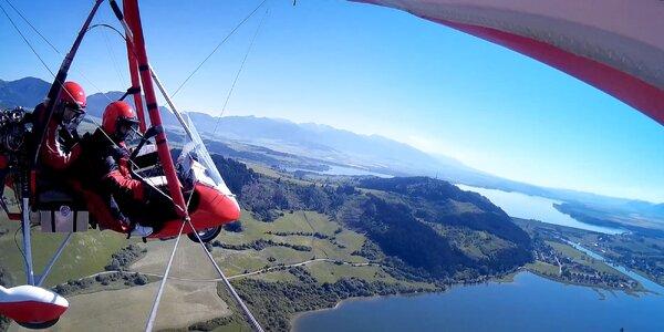 Let na Liptove motorovým rogalom aj s videozáznamom