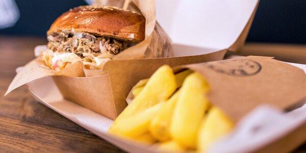 Barrique burger so 100% trhaným bravčovým mäsom