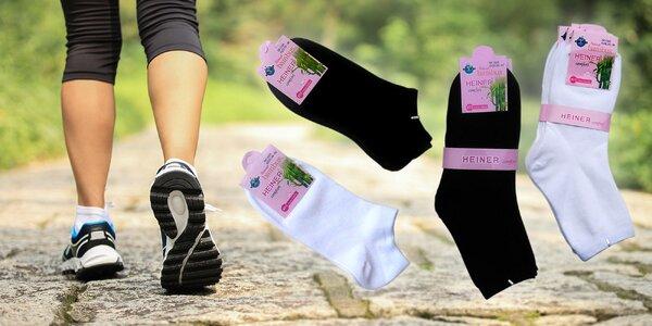 Dámske bambusové ponožky - klasické aj členkové, 6 párov!