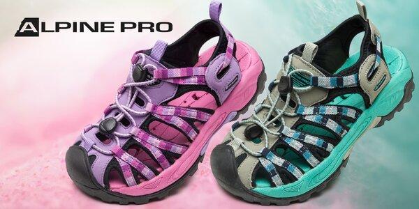 Ľahké a pevné detské sandále Alpine Pro