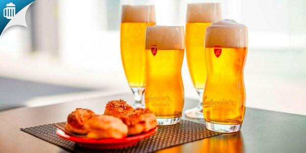 Čapované pivo s oškvarkovými pagáčmi