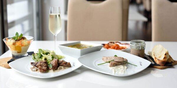Luxusné 6-chodové menu pre 2 osoby v Boteli Gracia