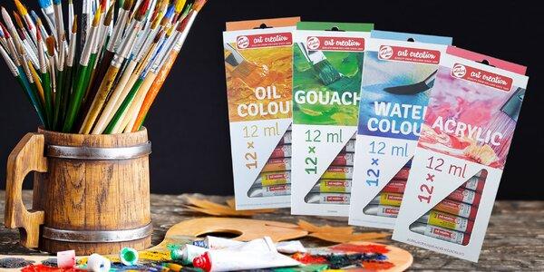 Akrylové, vodové, olejové i temperové farby