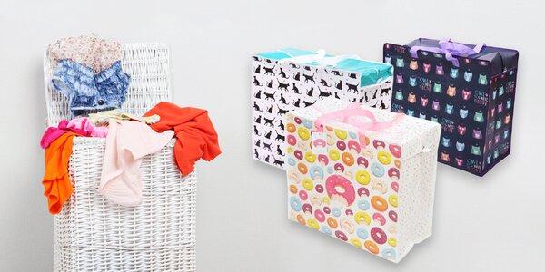 Originálna taška na špinavé prádlo či úložný box