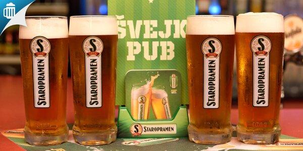 Veľké pivá Staropramen aj s hermelínom alebo utopencom