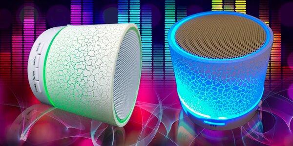 Bluetooth repráčik s LED podsvietením