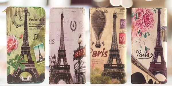 Farebné peňaženky s motívom Eiffelovej veže