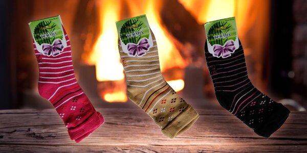 Dámske bavlnené termo ponožky