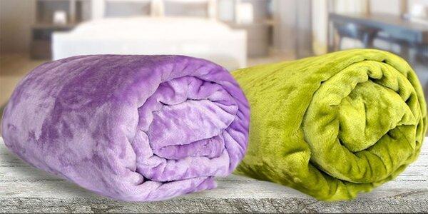 Farebné deky z mikroflanelu 150 x 200 cm