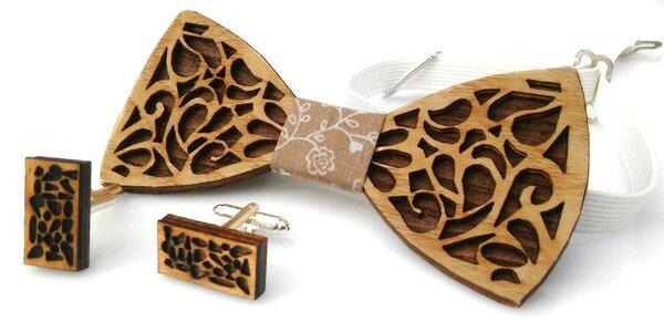 Trendy handmade drevené motýliky, aj pre deti