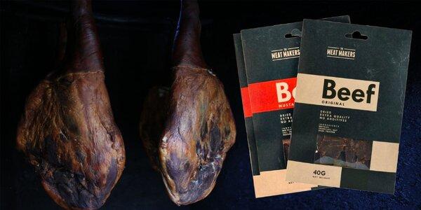 Kvalitné sušené hovädzie mäso: výber z 2 chutí