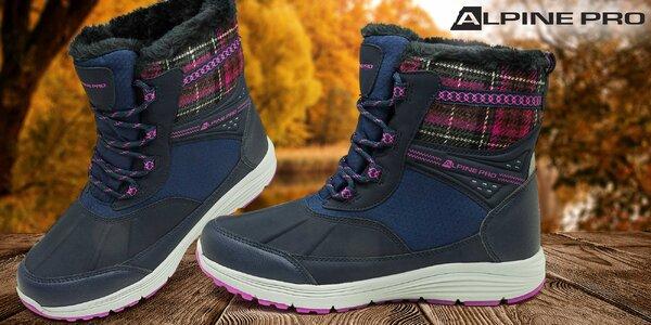 Kvalitné dámske zimné členkové topánky Alpine
