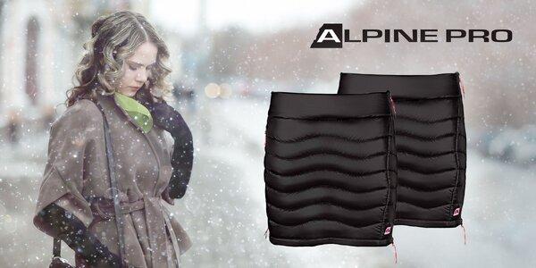 Zateplená čierna sukňa Alpin Pro Felipa