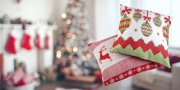 Obliečky na vankúš s vianočným motívom