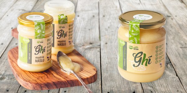 Tradičné prepustené maslo Ghí od českého výrobcu