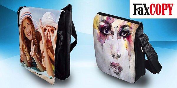 Originálna a štýlová taška cez rameno s vlastnou potlačou