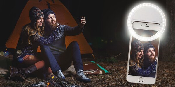 Selfie LED svetlo na mobil